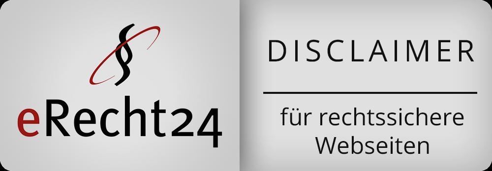 eRecht Disclaimer Plakette